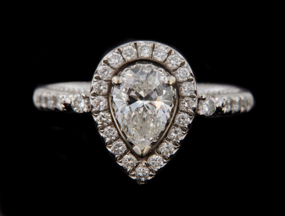 Diamond Unisex Solitaire ring 14kt White Gold  - image 2