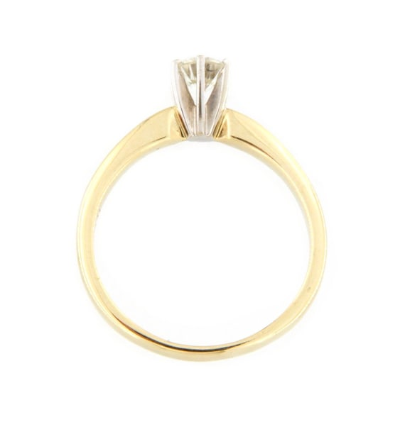 Women's Solitaire ring 14kt Yellow Gold  - image 3