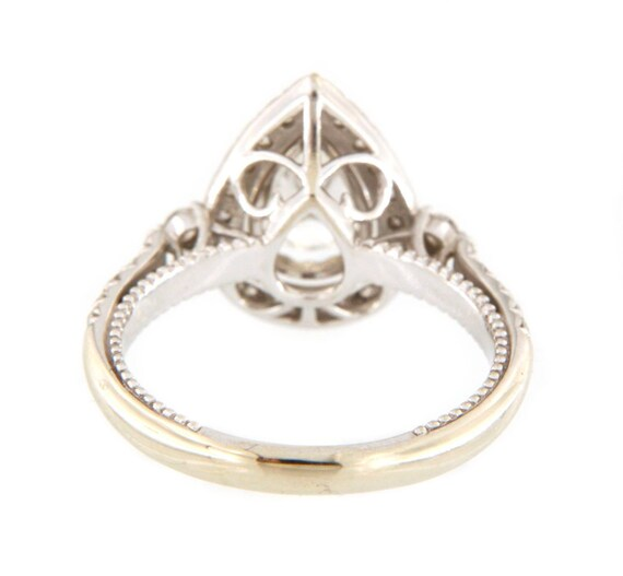 Diamond Unisex Solitaire ring 14kt White Gold  - image 5