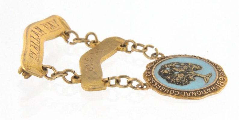 Unisex Pin  Brooch 10kt Yellow Gold