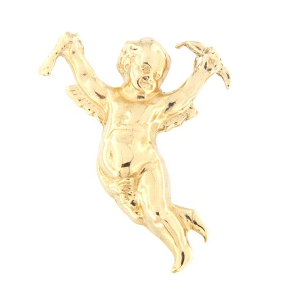 Cupid Unisex Charm 14kt Yellow Gold