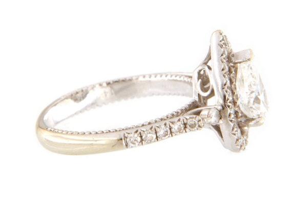 Diamond Unisex Solitaire ring 14kt White Gold  - image 6