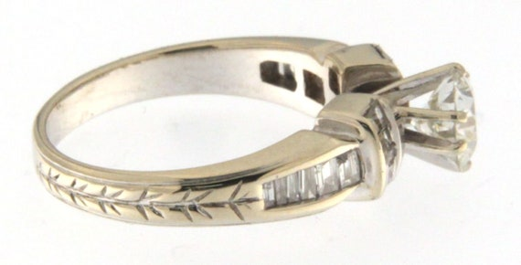 Women's Solitaire ring 14kt White Gold  - image 5