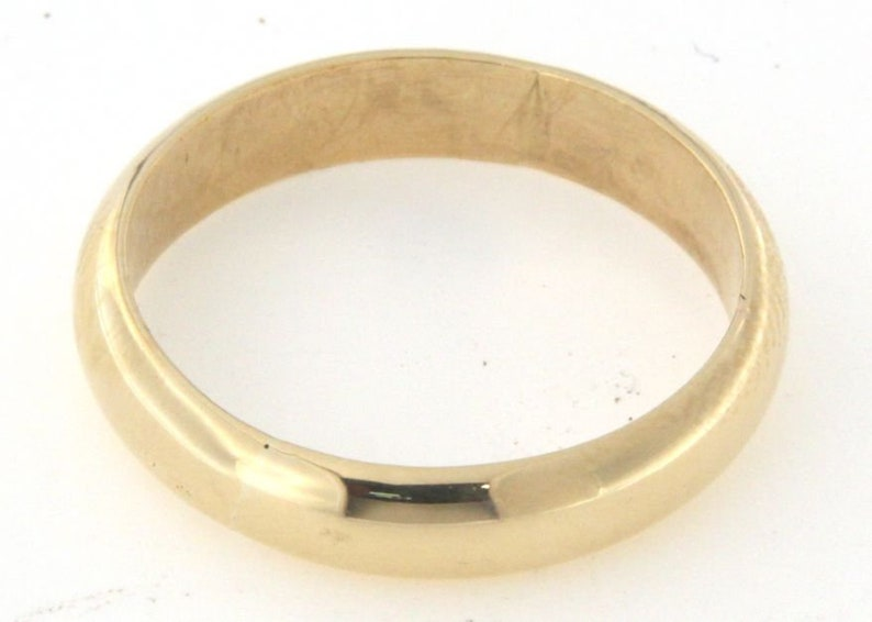 Men/'s Wedding band 14kt Yellow Gold