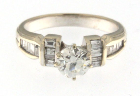 Women's Solitaire ring 14kt White Gold  - image 2