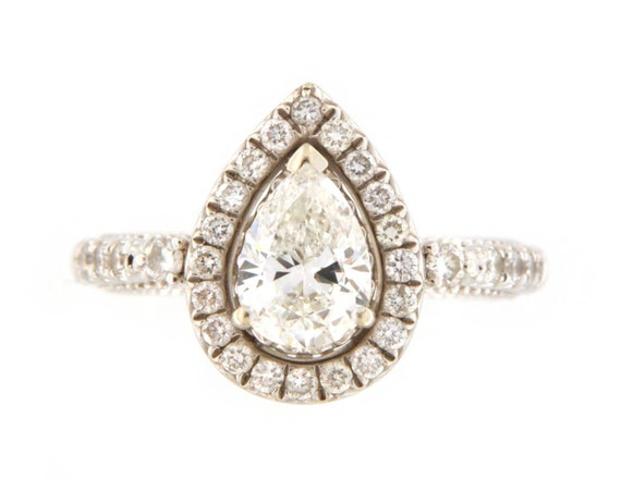 Diamond Unisex Solitaire ring 14kt White Gold  - image 7