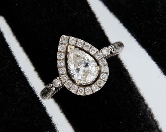 Diamond Unisex Solitaire ring 14kt White Gold  - image 1