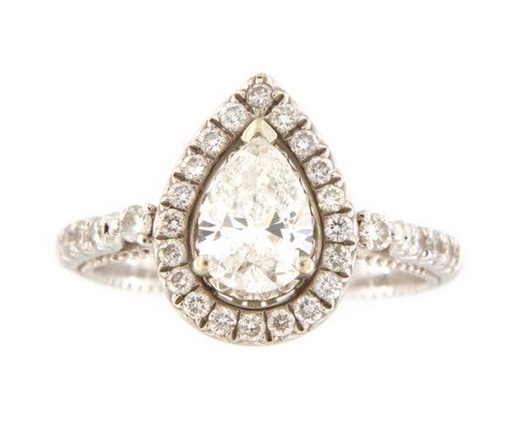 Diamond Unisex Solitaire ring 14kt White Gold  - image 8