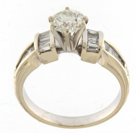 Women's Solitaire ring 14kt White Gold  - image 1