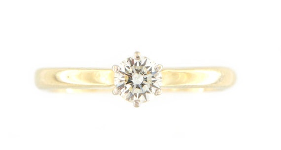 Women's Solitaire ring 14kt Yellow Gold  - image 7