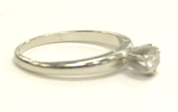 Women's Solitaire ring 14kt White Gold  - image 4