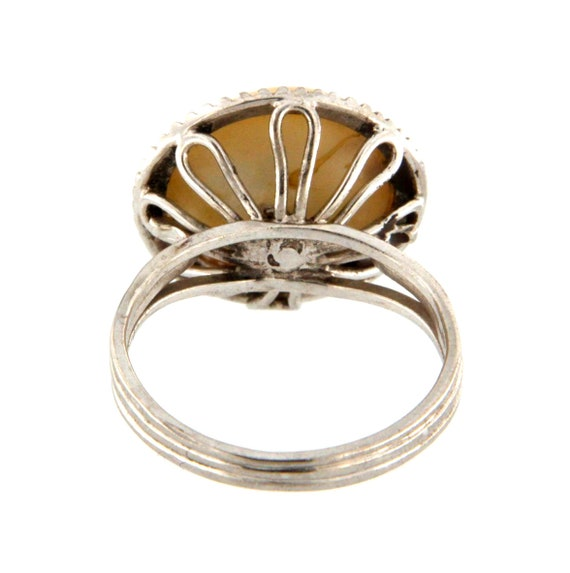 Women's Solitaire ring 18kt White Gold  - image 4