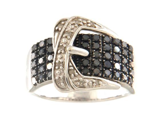 Buckle Women's Fashion Ring .925 Silver
