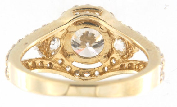 Women's Solitaire ring 14kt Yellow Gold  - image 4
