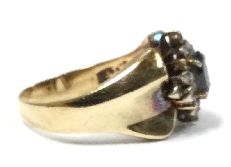 Women/'s Cluster ring 14kt Yellow Gold