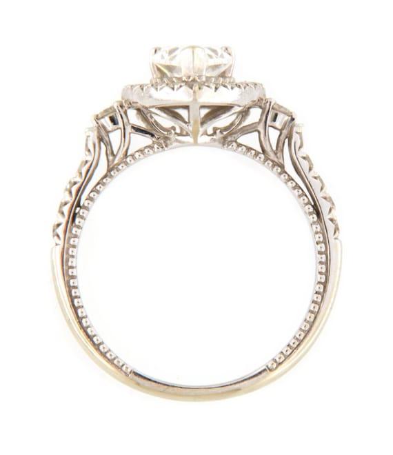 Diamond Unisex Solitaire ring 14kt White Gold  - image 3
