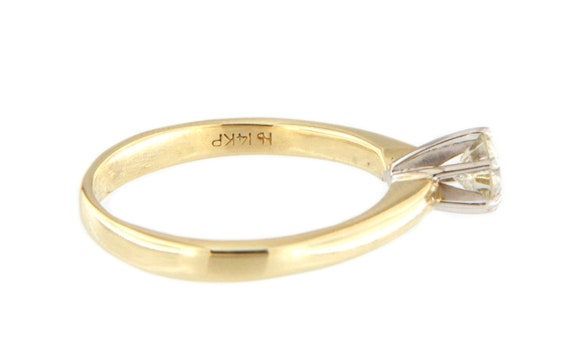 Women's Solitaire ring 14kt Yellow Gold  - image 6