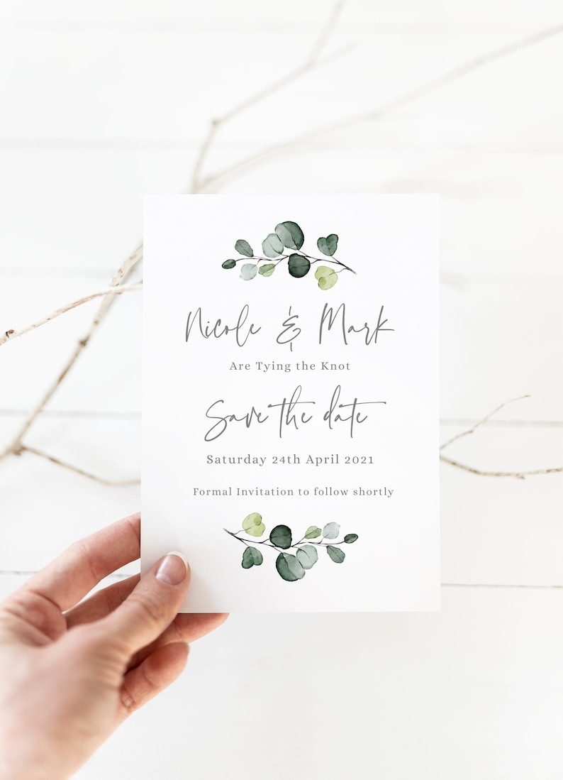 PRINTED Save the Date Cards Personalised Save the Date image 0