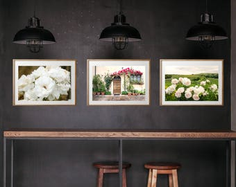 Tuscany Italy Vineyard Wine Countryside Photography, Large Format Photo  Prints, Matted Photo Print Set Of 3, Italy Country Flower Print Set