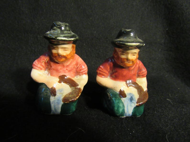 1509 Gold Miner Salt and Pepper Shakers