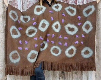 ARGENTINIAN pure wool RING PONCHO