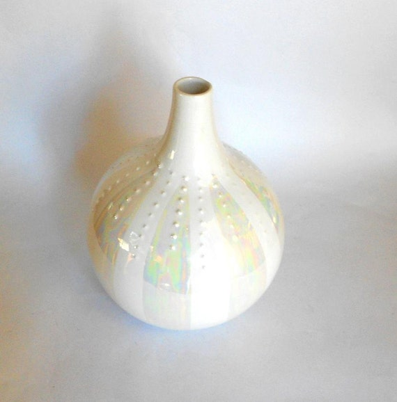 Sea Urchin Vase Malta Italy White Vase