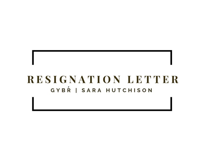 Professionally Written Resignation Letter