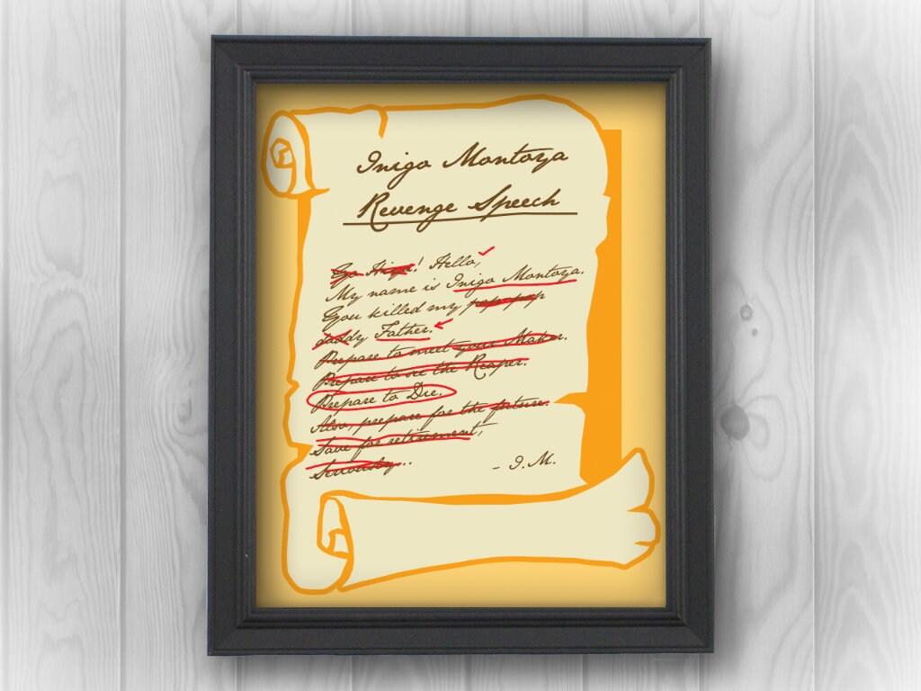 Princess Bride: Inigo Montoya scroll fantasy movie true love as you ...