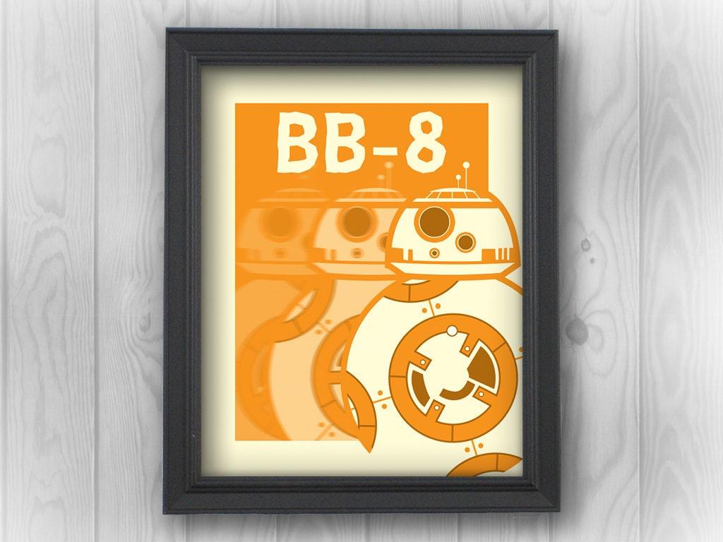 Star Wars: BB-8 Droid Episode VII movies | Minimalist Pop Art ...