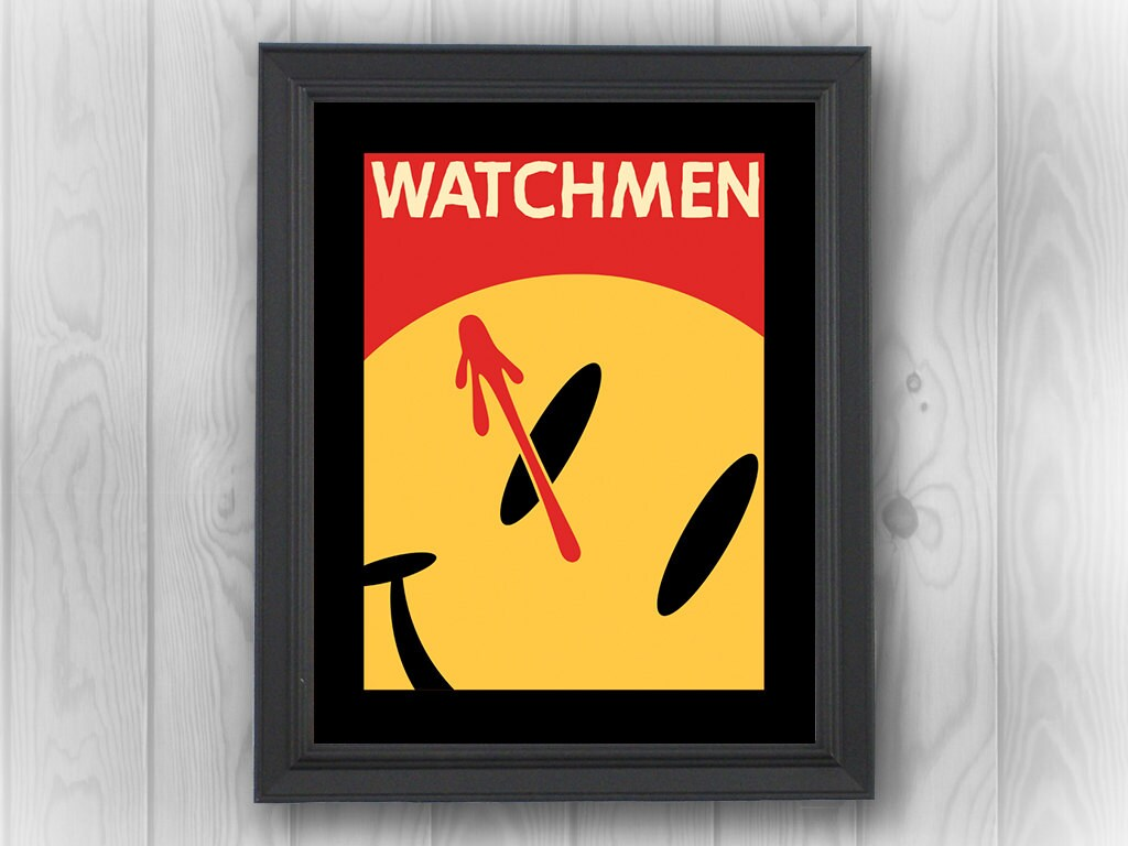 Watchmen, logo, Rorschach, DC Comics, Vertigo, superheroes, bloody ...
