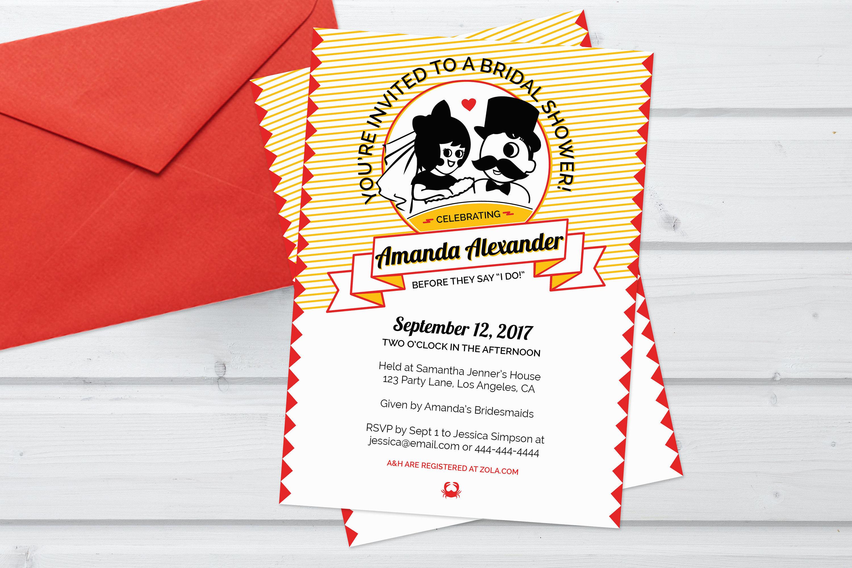 Baltimore Bridal Shower Invitation Customized Invitation   Etsy