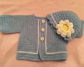 Blue Daisy sweater set