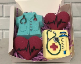 Medical Bath Bomb Gift Set For Nurse Doctor Of 4 Bombs