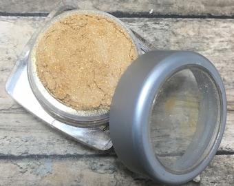 Gold Shimmer Eyeshadow, Mineral Makeup, Vegan Eyeshadow, Pressed Eyeshadow, 1.5 grams