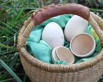 24 Hollow DIY Wooden Eggs - two dozen - 3.10 each