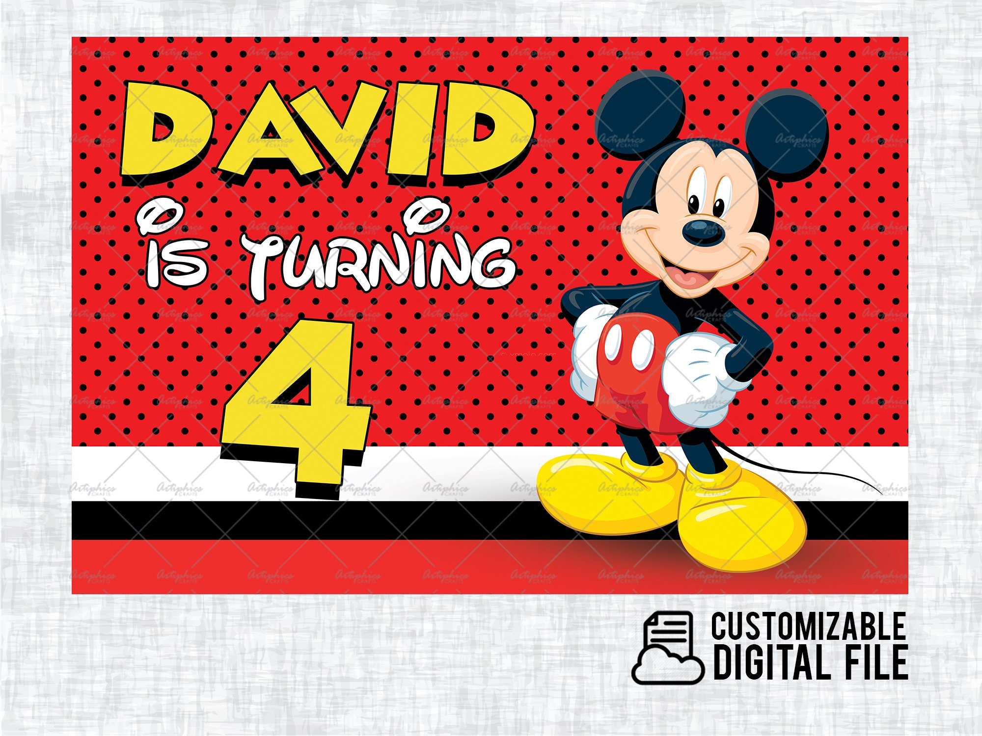 Mickey Mouse Birthday Banner Disney ...