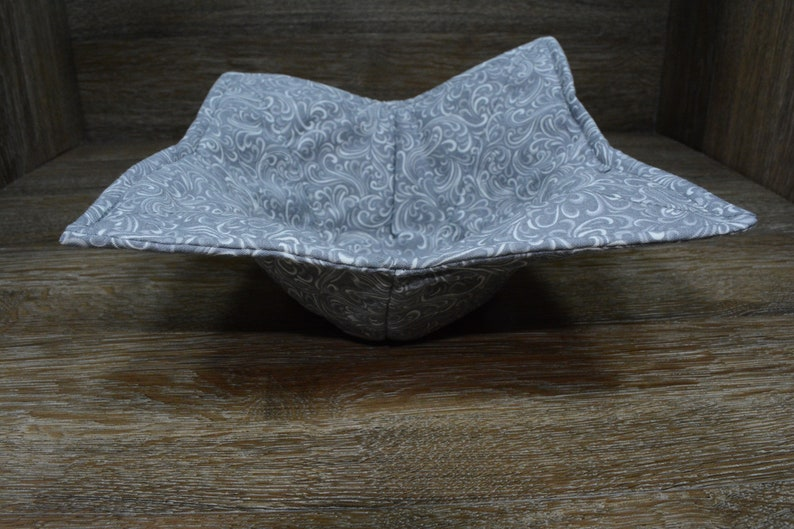 1 Medium Bowl Cozy and 1 Dinner Plate Cozy 1 Small Bowl Cozy Microwave Bowl Cozies Set of 3 Shaded Slate