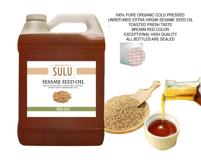 7 lbs 100% Pure Organic Unrefined Virgin Sesame seed oil All natural