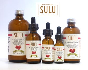 100% Pure and Natural Organic Extra Virgin Red Raspberry seed Oil