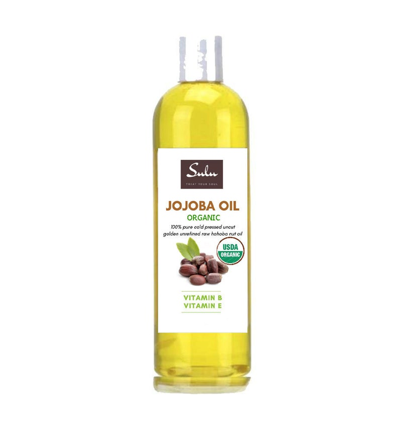 Organic Unrefined Golden Jojoba oil 100% pure all natural cold image 0