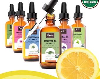 100% Pure and Natural Organic Therapeutic Grade Lemon Essential Oil