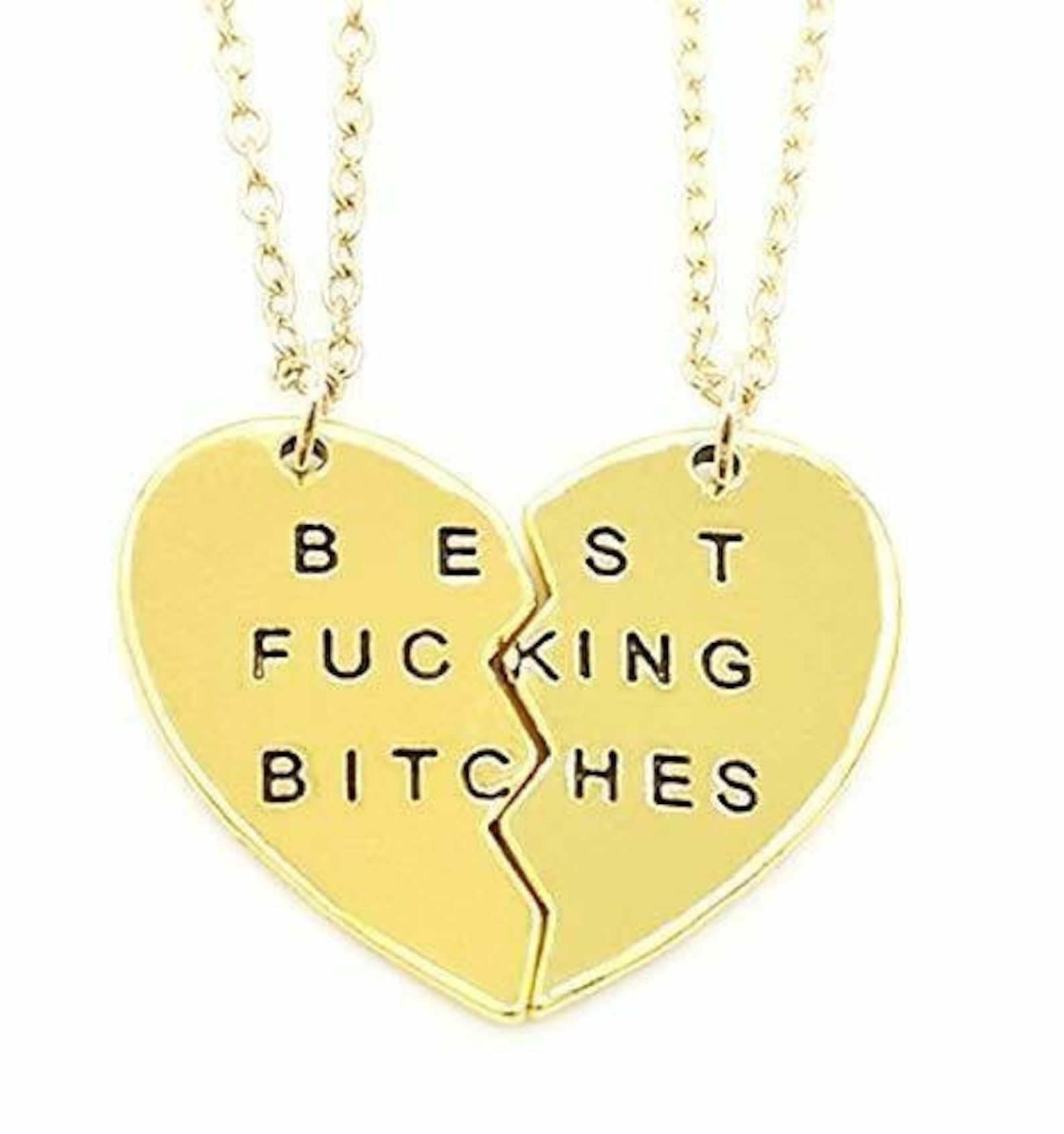 Zwei Halsketten beste ficken Bi ches Beste Freunde Herz | Etsy