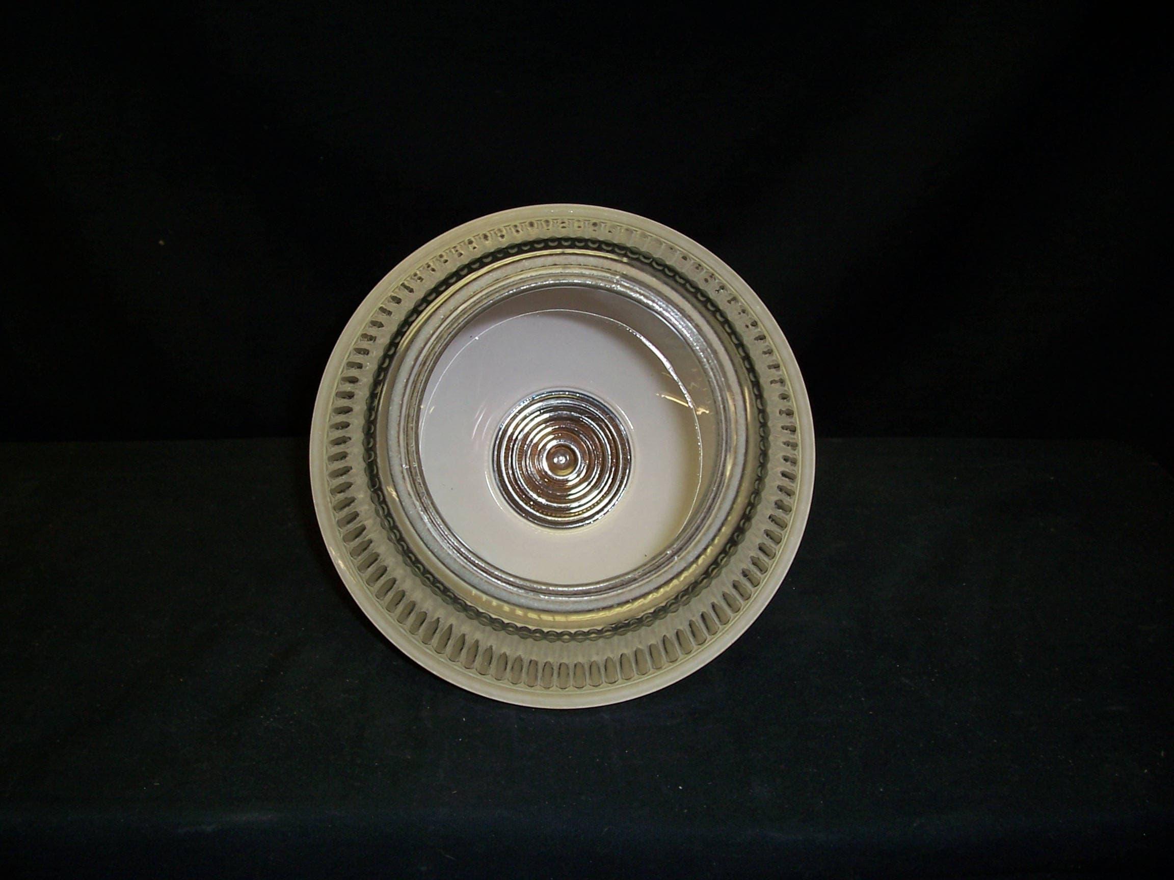 Vintage Art Déco soffitto in vetro chiaro ombra ciondolo ombra