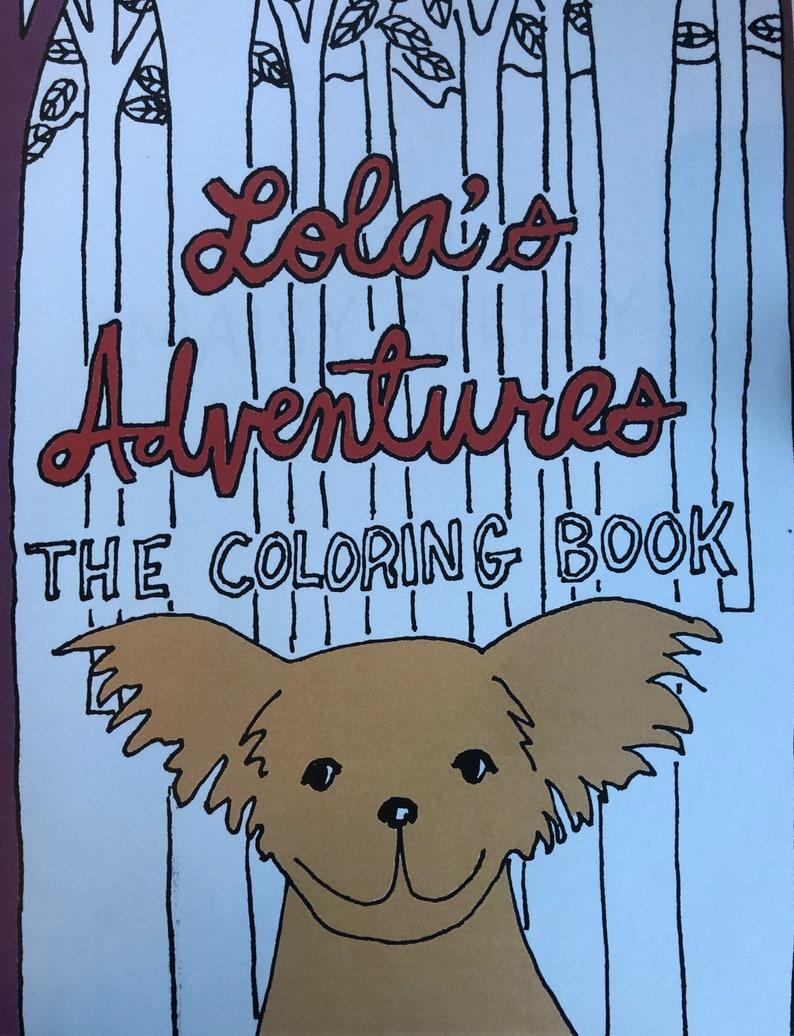 Lola's Adventures  coloring book image 0