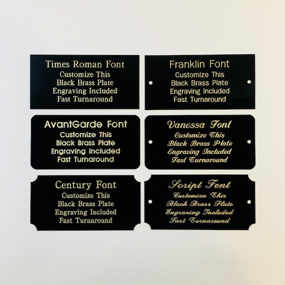 Engraving plate 120mm x 30mm