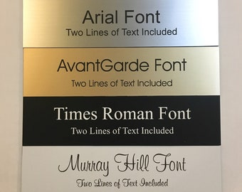 """2""""x8"""" Custom Laser Engraved Name Plate - Business Professional Home Office Name Plaque Fits Standard Wall and Desk Holders - Adhesive Backed"""