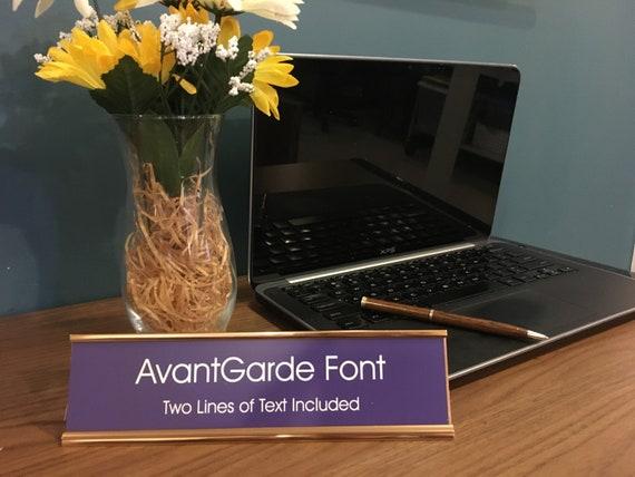 """2/""""x 8/"""" Funny Joke Desk Name Plate Holder Set /"""" Boss Lady /"""" Custom Engraving"""