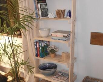 Ladder Shelf Unit - Recycled Pallet Shelves
