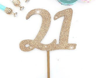 Any Aged Cake Topper, Birthday Cake Topper, Number Cake Topper, Birthday Cake Topper, Glitter Cake Topper, Various Colours