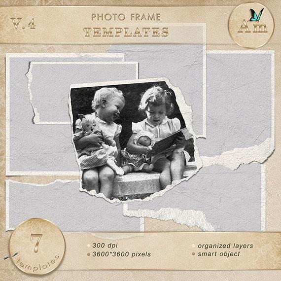 Frames Digital scrapbook frames. Photo Book. Photo album. | Etsy
